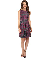 Donna Morgan - Box Pleat Poly Twill Fit and Flare Dress