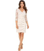 Adrianna Papell - Shimmer Shutter Tuck Lace Dress