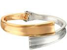Two-Tone Hinged Bypass Bangle Bracelet