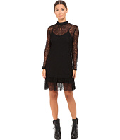 McQ - Gather Ruffle Blouse Dress Lace