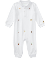 Ralph Lauren Baby - Interlock Novelty Schiffli Coveralls (Infant)