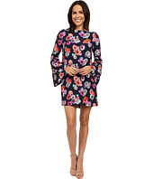 Nicole Miller - Flower Collage Bell Sleeve Shift