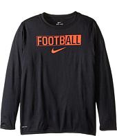 Nike Kids - Legend Long Sleeve All Football Tee (Little Kids/Big Kids)