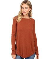 Christin Michaels - Juliet Coverstitch Circle Hem Cashmere Sweater