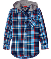Tommy Hilfiger Kids - Yates Long Sleeve Hooded Shirt (Toddler/Little Kids)