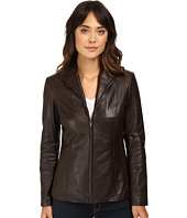Cole Haan - Lamb Leather Zip Front Jacket