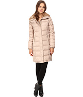 Cole Haan - Down Coat with Rabbit Faux Fur Removable Collar