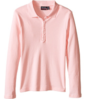 Nautica Kids - Long Sleeve Polo with Ruffle Placket (Little Kids)
