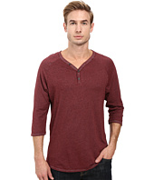 Alternative - Smoked Wash Organic Raw Edge 3/4 Henley