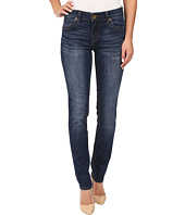 KUT from the Kloth - Stevie Straight Leg Five-Pocket Jeans in Admiration w/ Dark Stone Base Wash