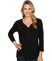 B Collection by Bobeau - Pixie Long Sleeve Henley