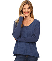 Mod-o-doc - Heavenly Jersey Raw Edge Side Vented Pullover w/ Rib Sleeve