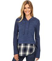 Mod-o-doc - Heavenly Jersey Pullover Hoodie w/ Contrast Flannel Hem