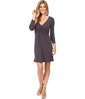 Mod-o-doc - Cotton Modal Spandex Jersey Surplice Banded Empire Dress