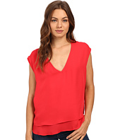HEATHER - Silk Double Layer V-Neck Top