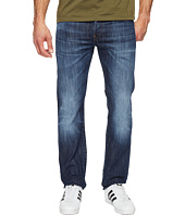 G-Star - Attacc Straight Fit Jeans in Blue Denim Stretch Denim Dark Aged