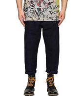 Vivienne Westwood - Anglomania Samurai Crop Jeans in Blue Denim
