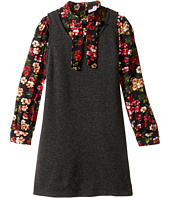 Dolce & Gabbana Kids - Back to School Long Sleeve A-Line Dress (Toddler/Little Kids)