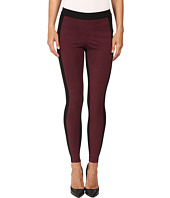 HUE - Blocked Microsuede Leggings