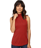Splendid - 1X1 Stripe Mock Neck Tank Top