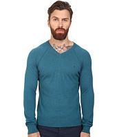Original Penguin - Long Sleeve V-Neck Pima Cotton Sweater