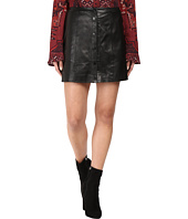 The Jetset Diaries - Saraya Leather Mini Skirt