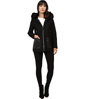 Calvin Klein - Fashion Fur Trimmed Hood with Oversized PU Pocket