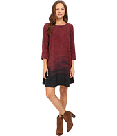 Michael Stars - Haze Print 3/4 Sleeve Crew Neck Swing Dress