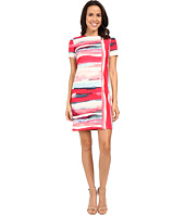 Vince Camuto - Short Sleeve Printed Scuba Shift Dress