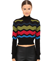 M Missoni - Zigzag Block Mock Turtleneck Top