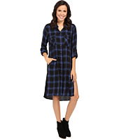 Blank NYC - Plaid Long Shirtdress in Tomboy Blues