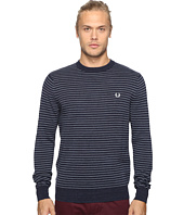 Fred Perry - Textured Yarn Stripe Crew Neck