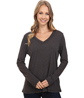 Dylan by True Grit - Gauzy Cotton Long Sleeve V-Neck Tee