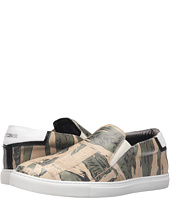 Just Cavalli - Camowork Printed Calf Leather Slip-On