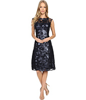 Adrianna Papell - Extended Cap Sleeve Fit & Flare Dress
