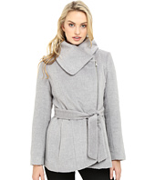 Jessica Simpson - Brushed Wool Touch Coat w/ Asymmetrical Zip