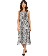 Christin Michaels - Turin Midi Dress w/ Belt Tie