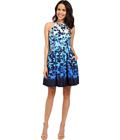 Vince Camuto - Printed Scuba Sleeveless Fit and Flare