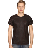 Just Cavalli - Dye Effect & Laser Jaquar Skin Effect T-Shirt