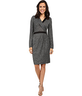Adrianna Papell - Cross Draped Long Sleeve Dress