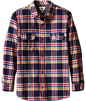 VISSLA Kids - The Bluff Plaid Long Sleeve Heavy Weight Flannel (Big Kids)