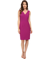 Adrianna Papell - V-Neck Dress w/ Center Front Seaming Detail