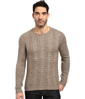 John Varvatos Star U.S.A. - Long Sleeve Crew Neck Sweater w/ Weave Rib Stitch Y1407S3L
