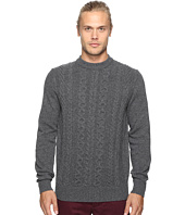 Ben Sherman - Long Sleeve Cable Front Crew Neck Sweater