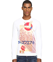 DSQUARED2 - Chic Dan Fit Punk Manga Gang Slong Sleeve T-Shirt