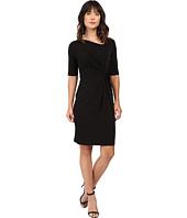 Christin Michaels - Eugina Twisted Front Short Sleeve Dress