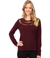 Vince Camuto - Long Sleeve Lace Yoke Sweater