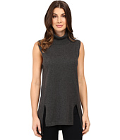 Vince Camuto - Sleeveless Turtleneck Sweater with Front Slits