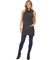Vince Camuto - Sleeveless Turtleneck Two-Pocket Boucle Sweater Tunic