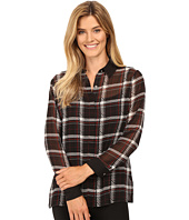 Vince Camuto - Long Sleeve Harbor Plaid Button Front Blouse